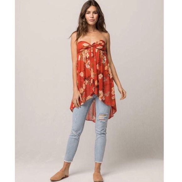 Free People Tops - Free People Floral Mirage Convertible Tube Tunic